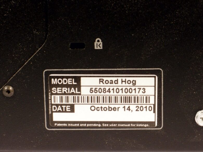 Road hog 3 serial number