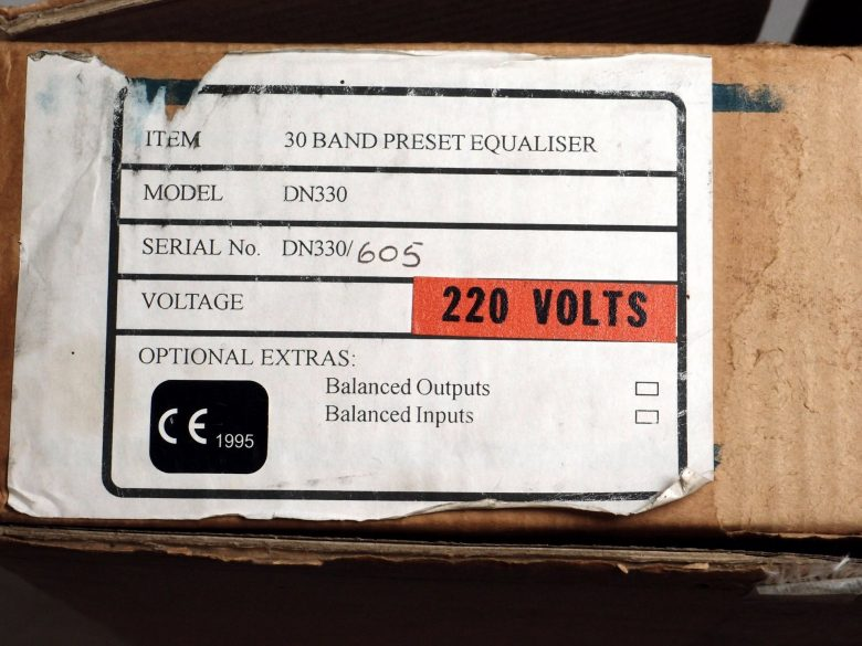 Klark Teknik DN330 New unused