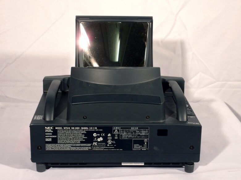 NEC WT610G DLP Mirror Projector rear view