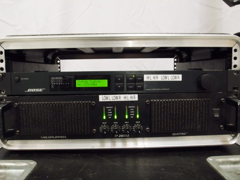 BOSE MA12EX with processor and LAB IP2400Q
