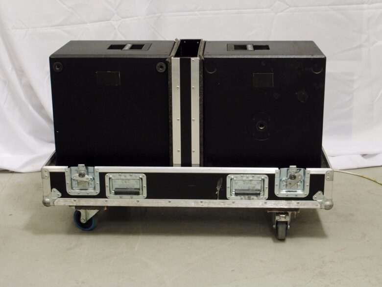 Pair of used d&b E12X-SUB in flight case
