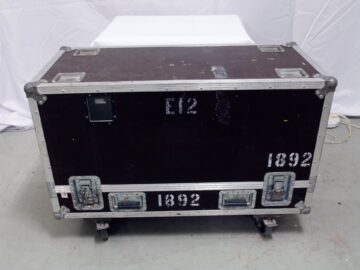 Pair of d&b E12-SUB in flight case used