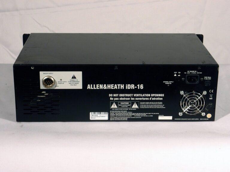 Allen & Heath iDR-16 rear view