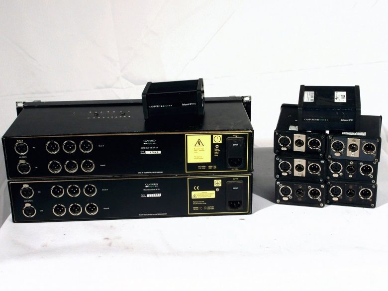 Canford tecpro MS721 intercom set rear view