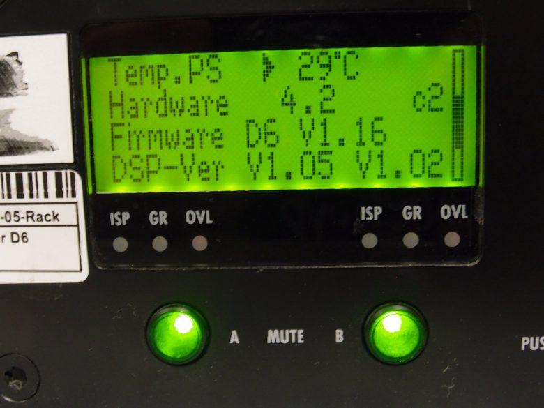 d&b D6 amplifier Hardware Firmware DSP