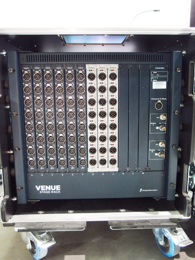 Avid Digidesign VENUE Profile Stage Rack in flight case