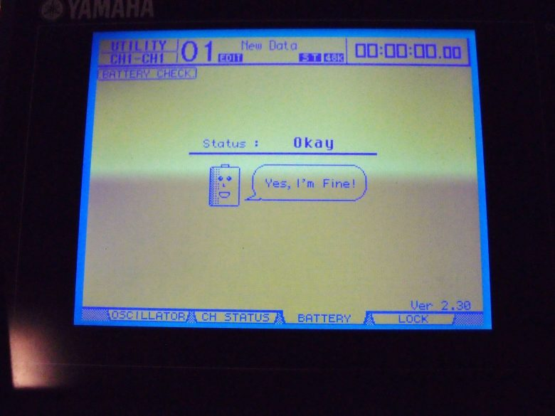 Yamaha DM1000 status display