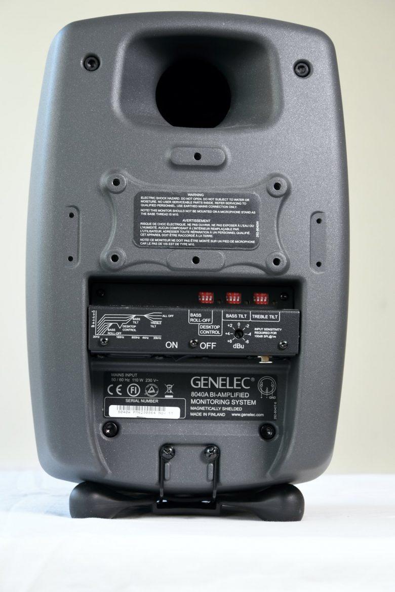 Genelec 8040A rear view