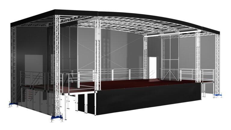 Alspaw Profiled L60 mobile stage for sale