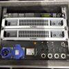 1х Xilica XP-3060 DSP, 1x QSC AMP PLX 2502, 1x QSC AMP PLX 3602, 1x 1F32A PDU, 1х case