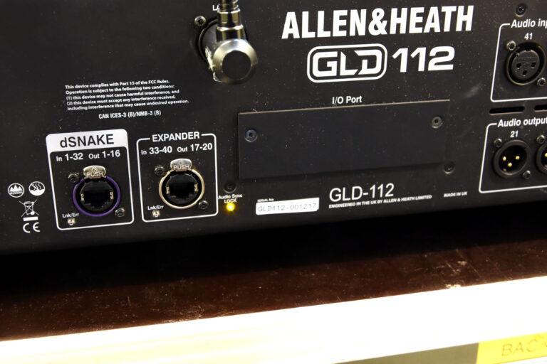 Allen & Heath GLD-112 rear view
