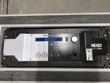 NEXO NXAMP4X4 with Dante card