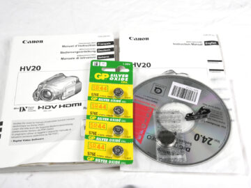 Canon HV20 HD Manual