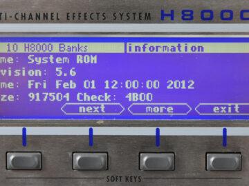 Eventide H8000fw v.5.6