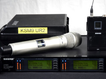 Shure UHF-R UR4D+ R9 KSM9 UR1 Package
